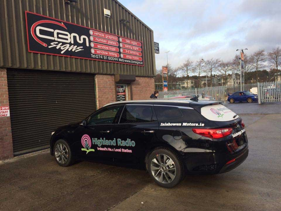 CBM Signs Car