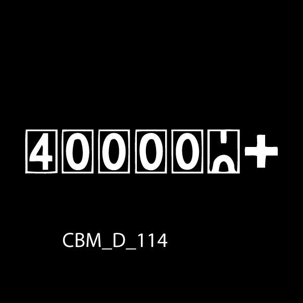 400000 Plus Miles Car Sticker