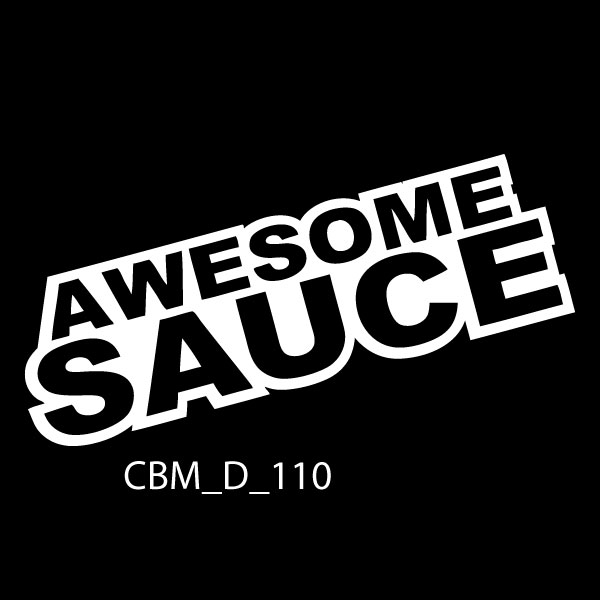 Awesome Sauce Car Sticker - car decals