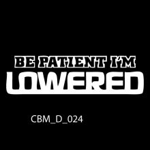 Be Patient I'm Lowered Car Stickers