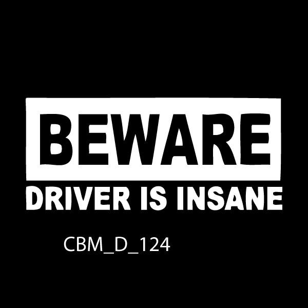 Beware Car Stickers