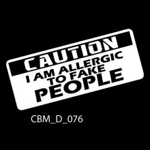 Caution Car Stickers