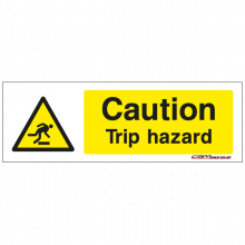 caution trip hazzard sign