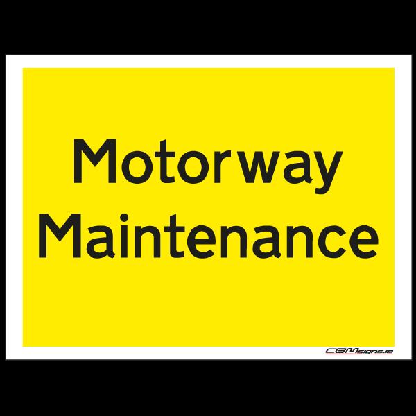motorway maintenance construction sign