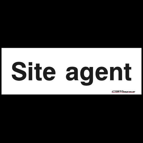 Site agent construction sign