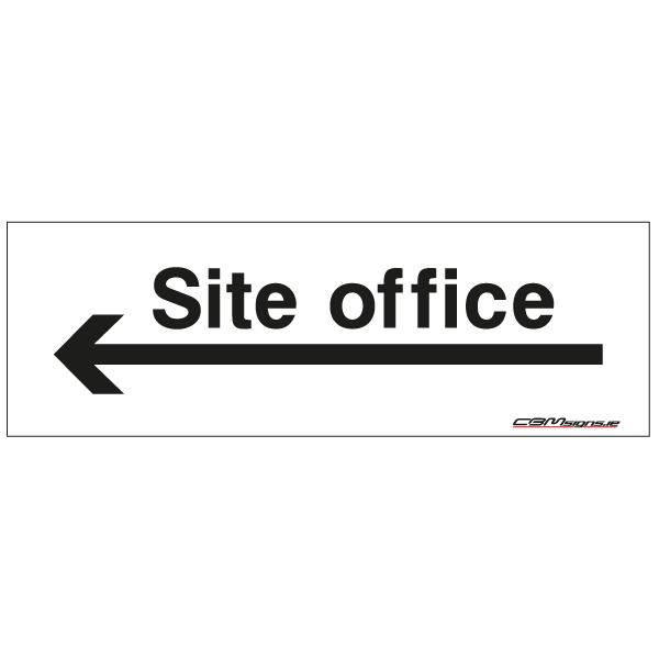 site office construction sign