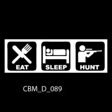 Eat Sleep Hunt Car Stickers
