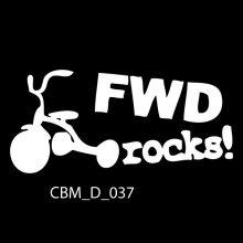 FWD Rocks Car Stickers