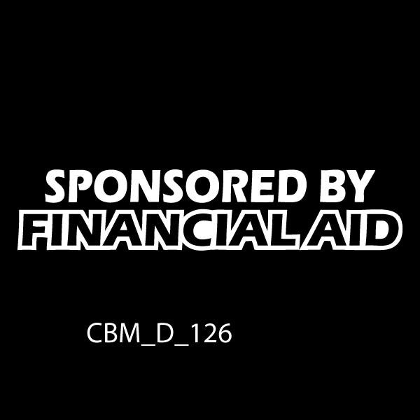 Financial Aid Car Sticker - CBM Signs Ireland