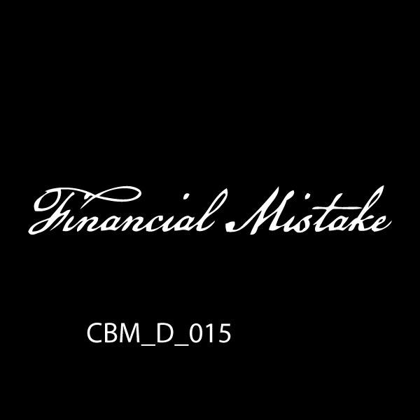 Financial Mistake Car Stickers