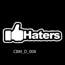 Haters Car Stickers