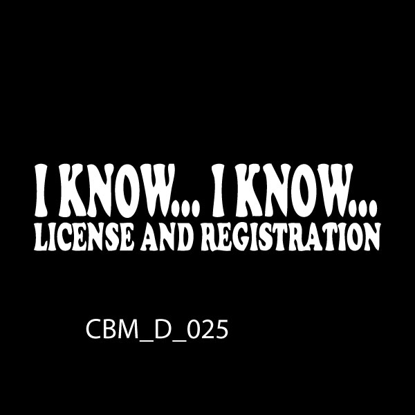 I Know I know Car Stickers