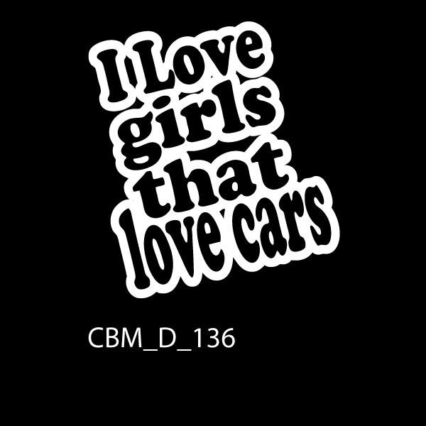 I Love Girls Car Stickers