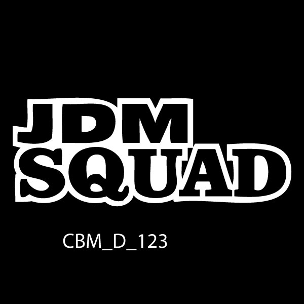JDM Squad Car Stickers