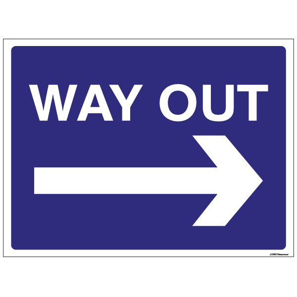 Way Out Parking Signs