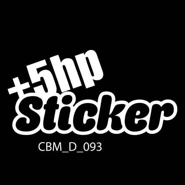Plus 5hp Car Sticker -Car Decals UK & Ireland