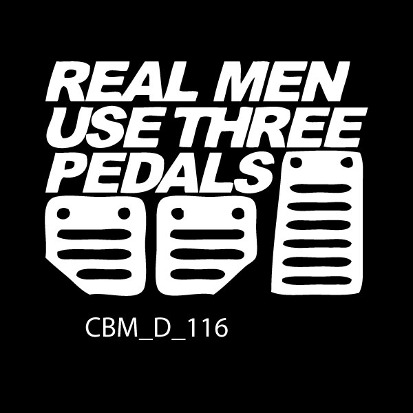 Real Men Car Sticker
