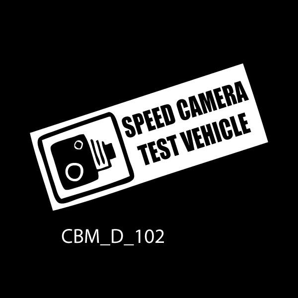 Speed Camera Test Vehicle Car Sticker