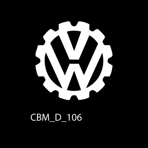 VW Cog Car Sticker - Car Decals