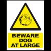 beware of dog at large sign