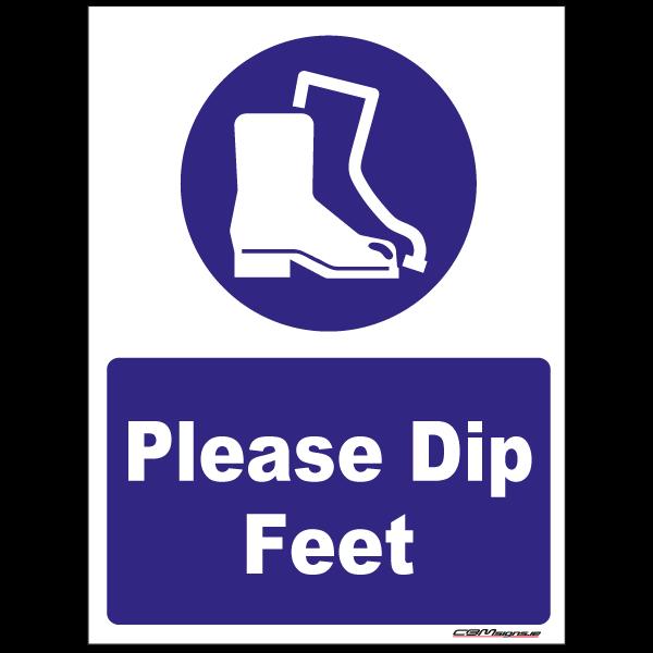 Farm Sign - Please Dip Feet
