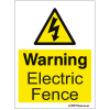 Farm Sign - Warning Electric Fence