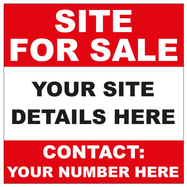 site for sale sign