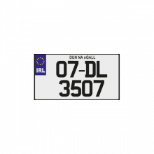 IRL Number Plates