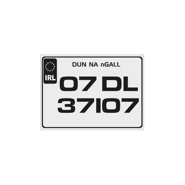 sporty number plates