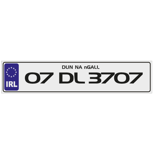 car number plates - CBM Signs Ireland