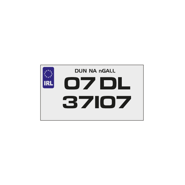 sporty number plates - CBM Signs Ireland