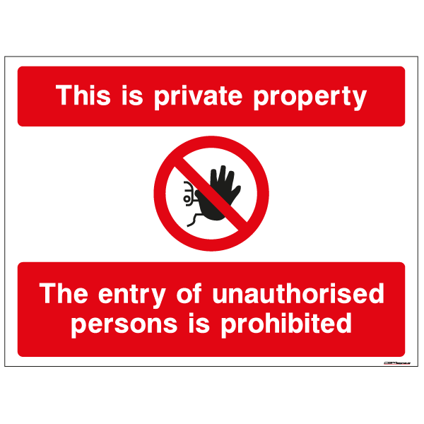 Private Property Security Signs to order online