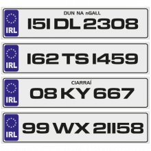 IRL Number Plates to buy online