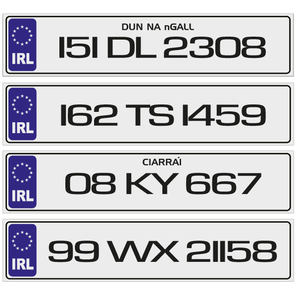 IRL Number Plates to order online