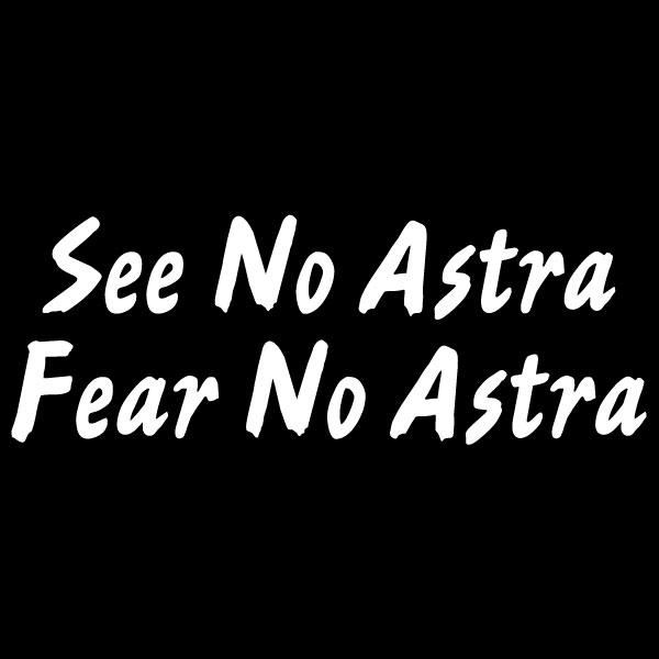 Car Sticker - See No Astra