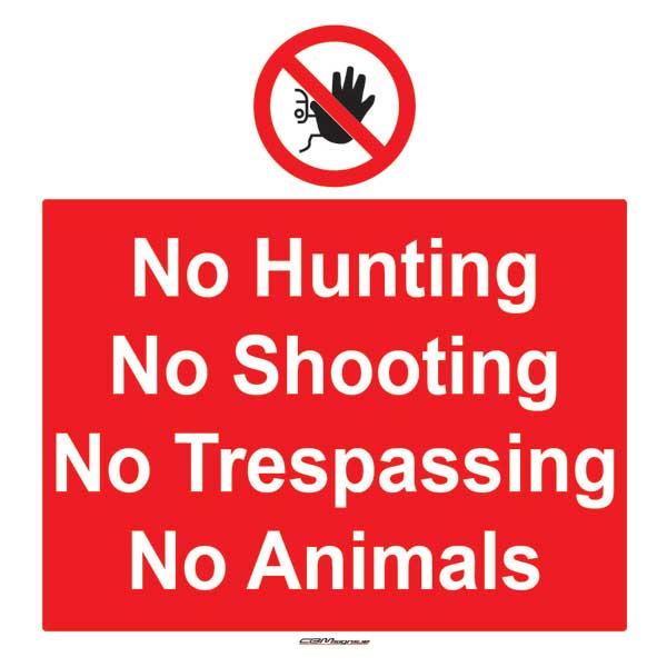 Farm Sign - No Trespassing/Shooting