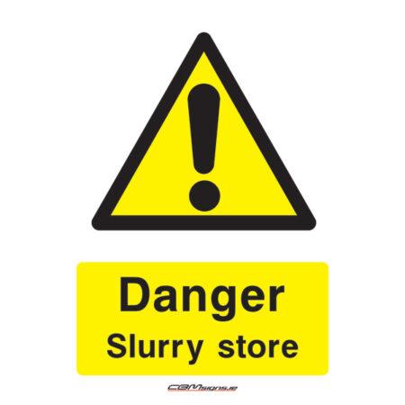 slurry store farm sign