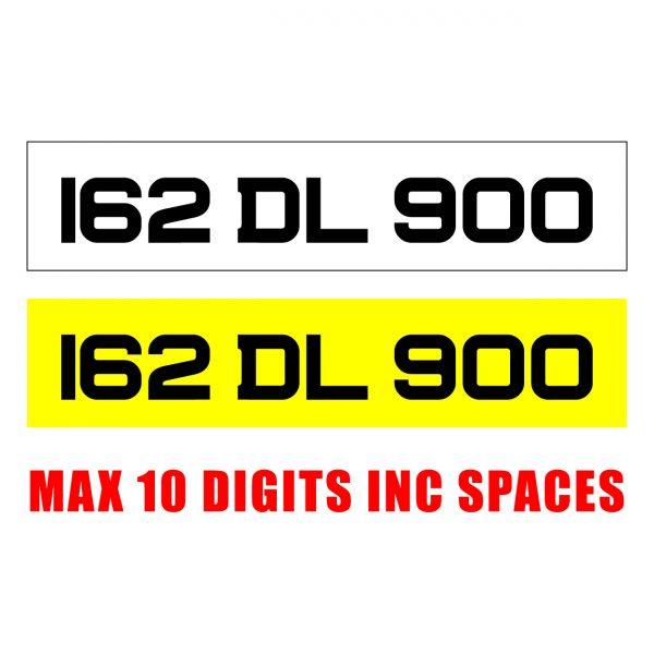 gel number plates order online