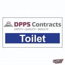 construction site toilet sign