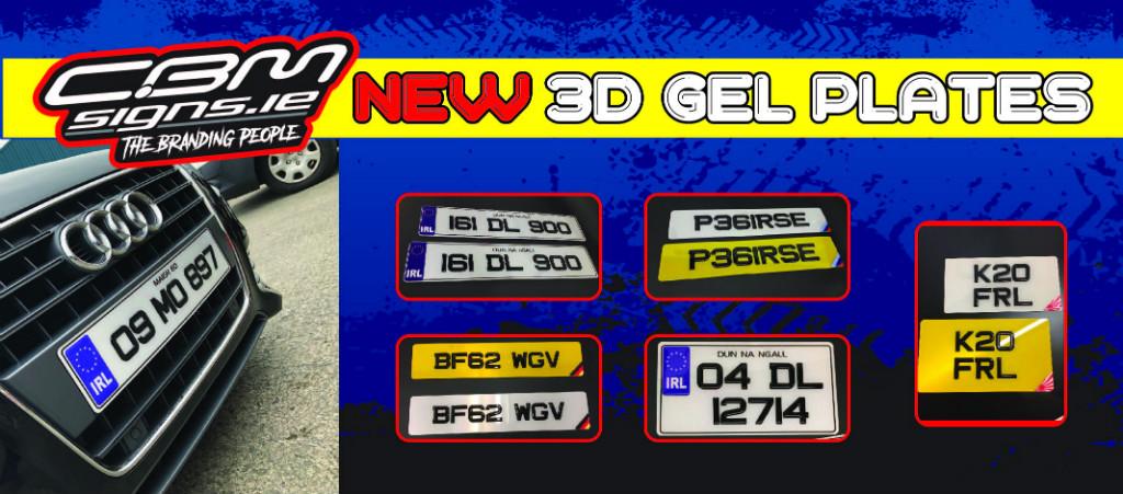Gel Car number plates for sale online