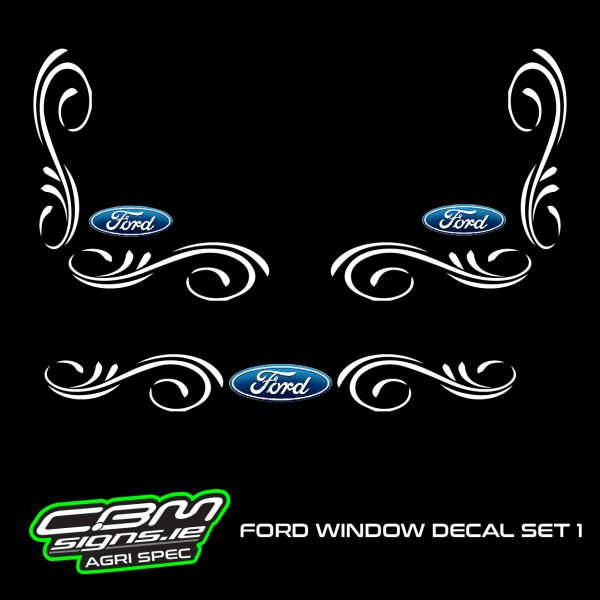FORD WINDOW DECAL SET