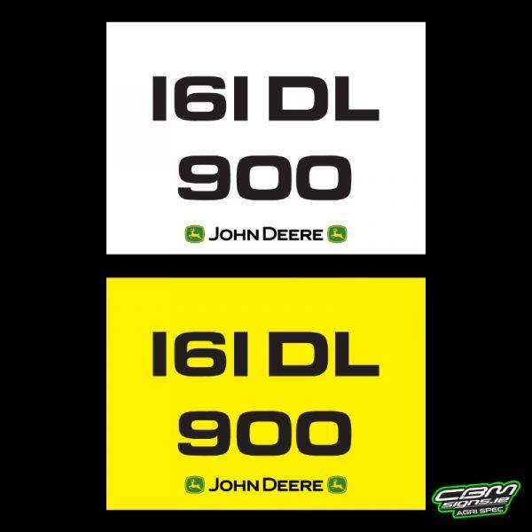 John Deere Trailer Number Plate
