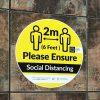 social distancing floor sticker