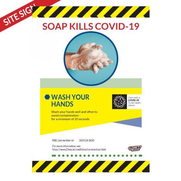 Covid-19 Hand Washing 300x400mm