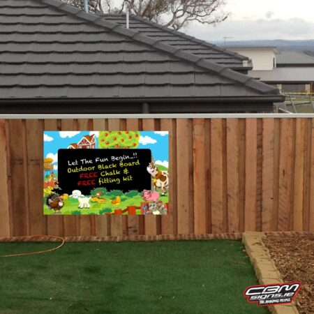 outdoor blackboard