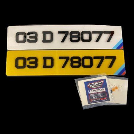 4D Show Plates BMW